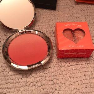 New colourpop and it cosmetics blush